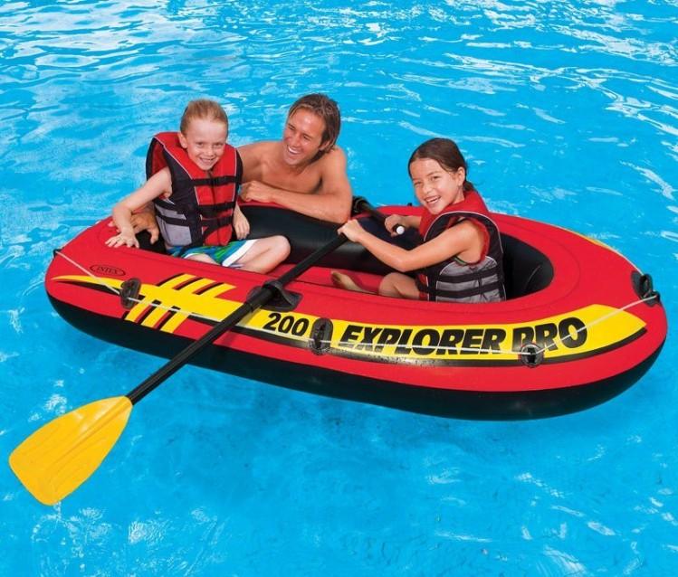 Intex explorer pro 200 set m t peddels en pomp for Aanbieding zwembad met pomp